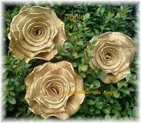 Krepprose Gold Floristenkrepp Ca 11 Cm Rosenzauber Aus Krepp