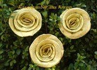 Krepprose Gold Alukrepp Ca 7 Cm