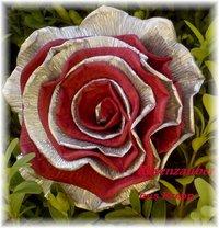 Krepprose Zweif Silberbordedauxrot Floristenkrepp Ca 11 Cm